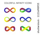 colorful infinity icon vector | Shutterstock .eps vector #1121698955