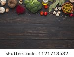 italian pasta concept and menu... | Shutterstock . vector #1121713532