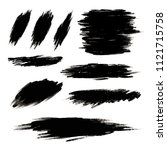 black paint brush stroke on... | Shutterstock .eps vector #1121715758