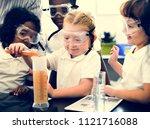 happy kids at elementary school | Shutterstock . vector #1121716088