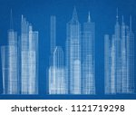buildings concept architect... | Shutterstock . vector #1121719298