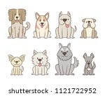 collection of different kinds... | Shutterstock .eps vector #1121722952