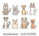 collection of different kinds... | Shutterstock .eps vector #1121722958