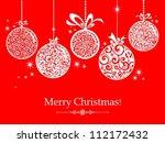 transparent christmas balls... | Shutterstock . vector #112172432