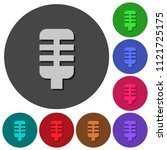 microphone icons with shadows...