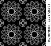 vector seamless ornamental... | Shutterstock .eps vector #1121726975