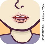 illustration of a girl with dry ... | Shutterstock .eps vector #1121727932