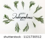 happy independence day hand... | Shutterstock . vector #1121730512