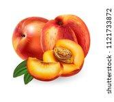 peach on white background | Shutterstock . vector #1121733872