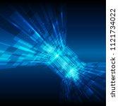 blue abstract technology... | Shutterstock .eps vector #1121734022