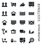 set of vector isolated black...   Shutterstock .eps vector #1121735618
