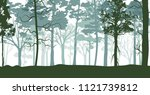green forest on a summer day   Shutterstock .eps vector #1121739812