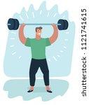vector cartoon illustration of... | Shutterstock .eps vector #1121741615