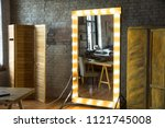 large full length mirror in a... | Shutterstock . vector #1121745008