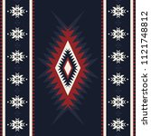 tribal kilim  abstract... | Shutterstock .eps vector #1121748812