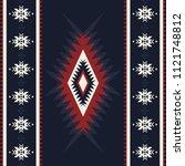 tribal kilim  abstract... | Shutterstock .eps vector #1121748812