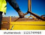 rigger hand construction worker ... | Shutterstock . vector #1121749985