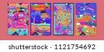 set of summer illustration for... | Shutterstock .eps vector #1121754692