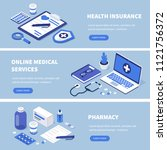 medical services banners set.... | Shutterstock . vector #1121756372
