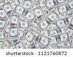 background of american dollars... | Shutterstock . vector #1121760872