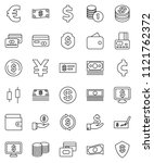 thin line vector icon set  ...   Shutterstock .eps vector #1121762372