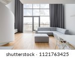luxury apartment with window... | Shutterstock . vector #1121763425