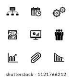 vector management icons set  ... | Shutterstock .eps vector #1121766212