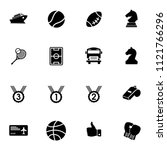 vector sports icons set. vector ... | Shutterstock .eps vector #1121766296