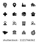 vector real estate icons  sale... | Shutterstock .eps vector #1121766362