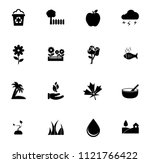 vector nature sign symbols. eco ... | Shutterstock .eps vector #1121766422