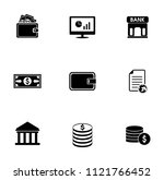 vector money collection - financial investment icons set, money payment. currency stock exchange sign symbols | Shutterstock vector #1121766452
