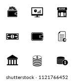 vector money collection  ... | Shutterstock .eps vector #1121766452