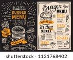 burger restaurant menu. food... | Shutterstock .eps vector #1121768402