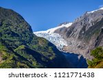 franz josef glacier landscape ...   Shutterstock . vector #1121771438