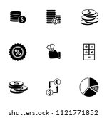 vector financial icons set  ... | Shutterstock .eps vector #1121771852