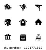 vector house buildings icons... | Shutterstock .eps vector #1121771912