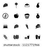vector food icons set   bakery  ... | Shutterstock .eps vector #1121771966
