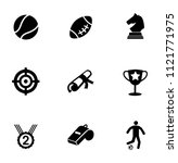 vector gaming icons set. video... | Shutterstock .eps vector #1121771975