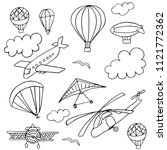 set of doodles on the theme of... | Shutterstock .eps vector #1121772362