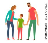 happy family. lovely parents... | Shutterstock .eps vector #1121772968