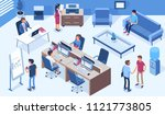 coworking office concept  with... | Shutterstock . vector #1121773805