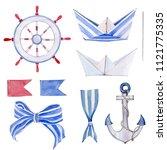 Watercolor Nautical Set....