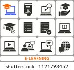 e learning distance education... | Shutterstock .eps vector #1121793452