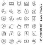 thin line vector icon set  ...   Shutterstock .eps vector #1121796332