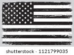 usa vintage flag.black and... | Shutterstock .eps vector #1121799035