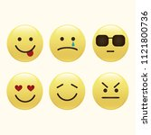 set of smile icons. emoji.... | Shutterstock .eps vector #1121800736