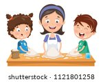 vector illustration of mother... | Shutterstock .eps vector #1121801258