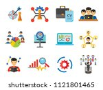 consulting icon set. changes... | Shutterstock .eps vector #1121801465