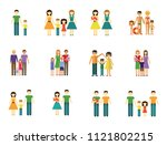 family icon set. couple with... | Shutterstock .eps vector #1121802215