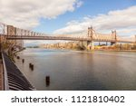 new york city skyline   nyc  ... | Shutterstock . vector #1121810402